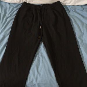 Black technical jogging pants